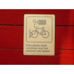 Sticker voor fietsopstelplaats