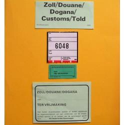 Setje douane formulieren
