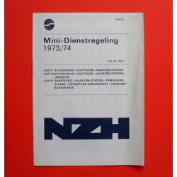 Minidienstregeling NZH 1973/74