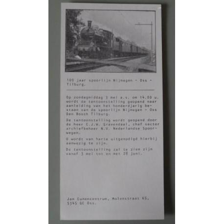 100 jaar Nijmegen-Oss-Tilburg
