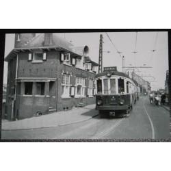Foto Blauwe Tram Katwijk 1960