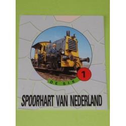 Sticker Spoorhart 1 de Sik